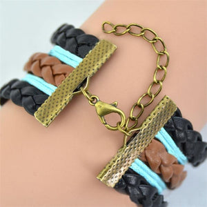 New Arrival! Vintage Style Leather Rope Hunger Games Bracelet - Unisex