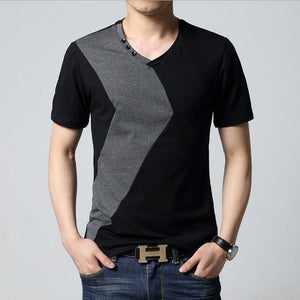 6 Designs Mens T Shirt Slim Fit Crew Neck T-shirt Men Short Sleeve Shirt Casual tshirt Tee Tops Mens Short Shirt Size M-5XL