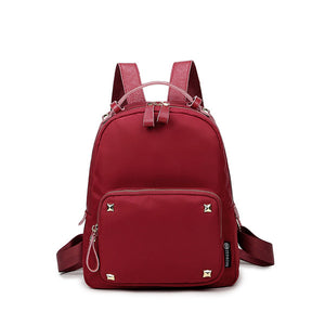 Nylon shoulder bag Korean female bag tide with leather waterproof leather oxford cloth small backpack new casual bags