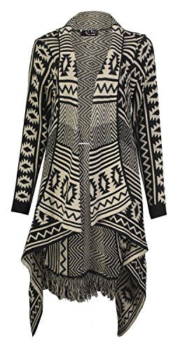Mix Lot new cascade women ladies winter warm knitted poncho cardigan diamond Aztec printed stone size casual wear stripes 36-42