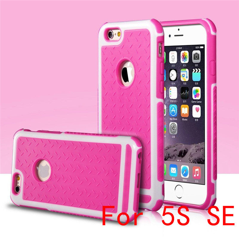 Ultra Thin Shockproof Rubber PC and TPU Hybrid Case Cover For Apple iPhone 5S SE 6 6S 6 plus High Quality Shell EC882
