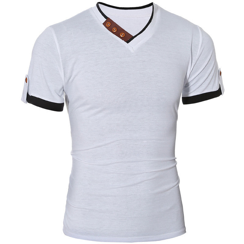 2016 Hot Sale Summer Style Men T Shirt Fashion Slim Fit Short Sleeve T Shirt Men Solid Color Casual T-shirt Men Plus Size