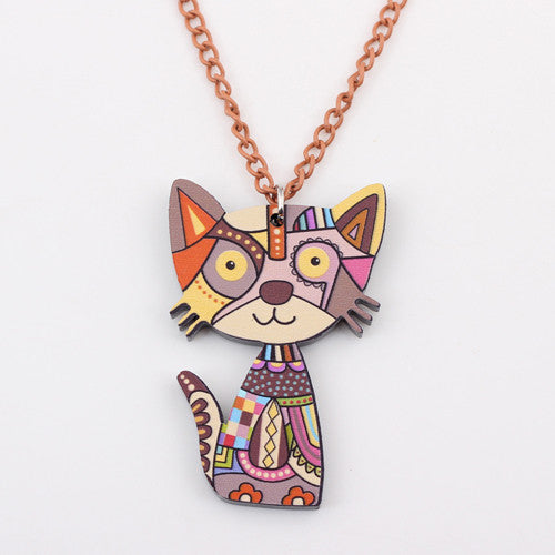 Colorful Cat Necklace