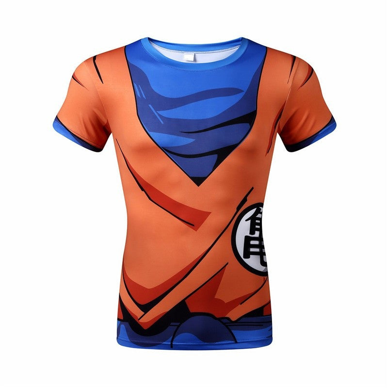 HIGH QUALITY CLASSIC ANIME DRAGON BALL Z SUPER SAIYAN 3D T SHIRT VEGETA GOKU ARMOUR FITNESS TIGHTS WOMEN MEN CASUAL TEE SHIRTS