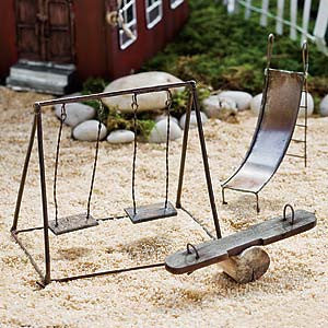 Backyard, Beach, Camping Fairy Garden Miniatures