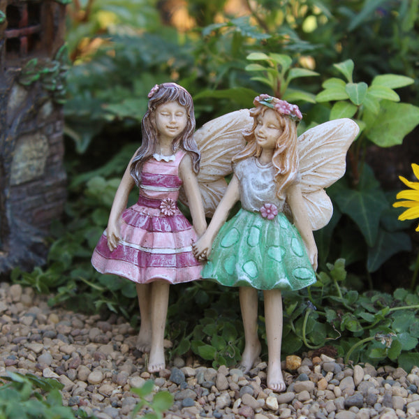 Addie & Maddie Mini Fairy: Fairy Garden Miniature - Baby Feathers Gift Shop