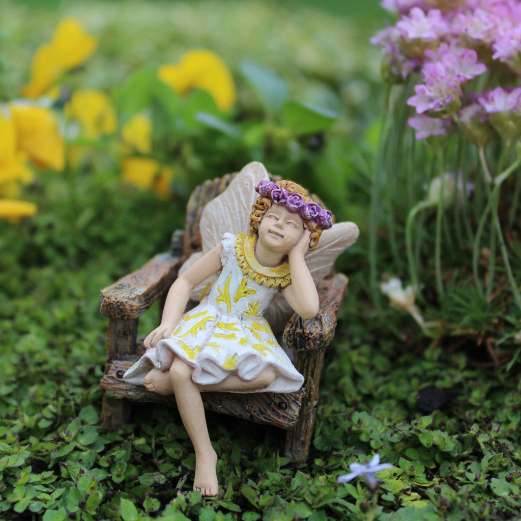 Hattie Mini Fairy: Fairy Garden Miniature - Baby Feathers Gift Shop