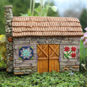 Fairy Barn (Hinged Doors) Barnyard Fairy Garden Cottage - Baby Feathers Gift Shop