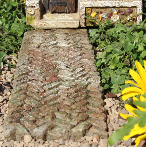 Weathered Walkway Landscaping: Fairy Garden Miniature - Baby Feathers Gift Shop