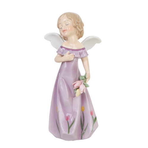 Tulips Fine Porcelain Floral Angel - Baby Feathers Gift Shop