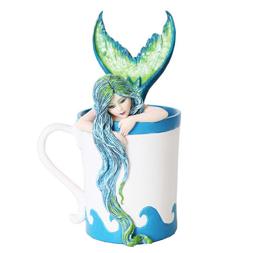 Morning Bliss Mermaid by Amy Brown Teacup Fairy Collection - Baby Feathers Gift Shop