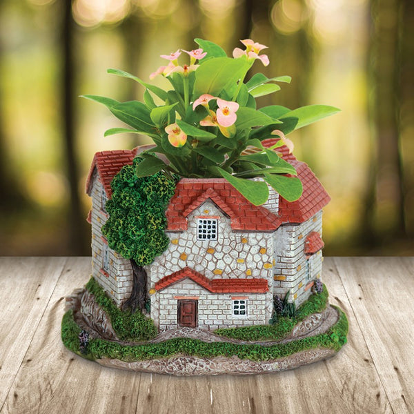 Fairy Cottage Planter: 6 inch: Fairy Garden Container - Baby Feathers Gift Shop