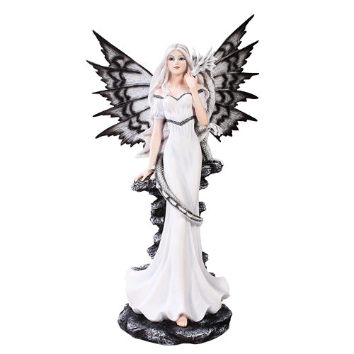 "Fairy of the Night with Dragon 21.5"" - Baby Feathers Gift Shop"
