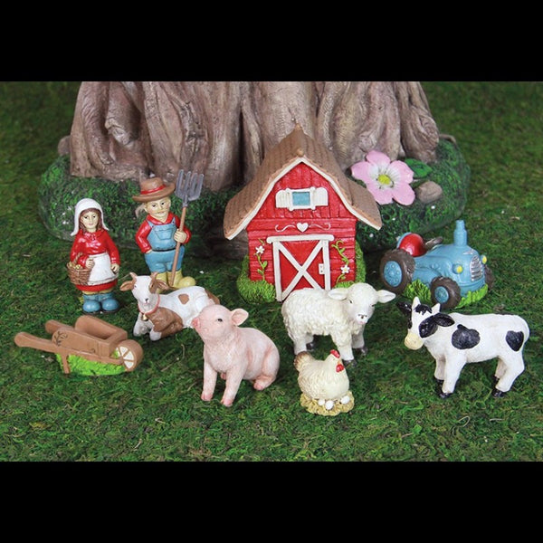 Barnyard Garden Miniature Kit 10pc Set Garden Kit - Baby Feathers Gift Shop