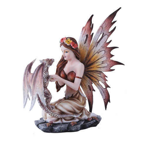 Autumn Fairy with Baby Dragon - Baby Feathers Gift Shop