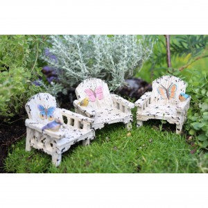 Butterfly Chair (3 Colors) Fairy Garden Miniature Furniture - Baby Feathers Gift Shop