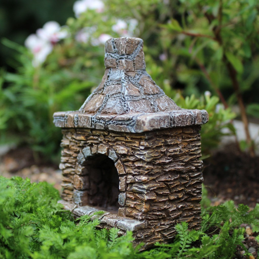 Chimney Backyard Fairy Fireplace: Fairy Garden Miniature Accessories - Baby Feathers Gift Shop