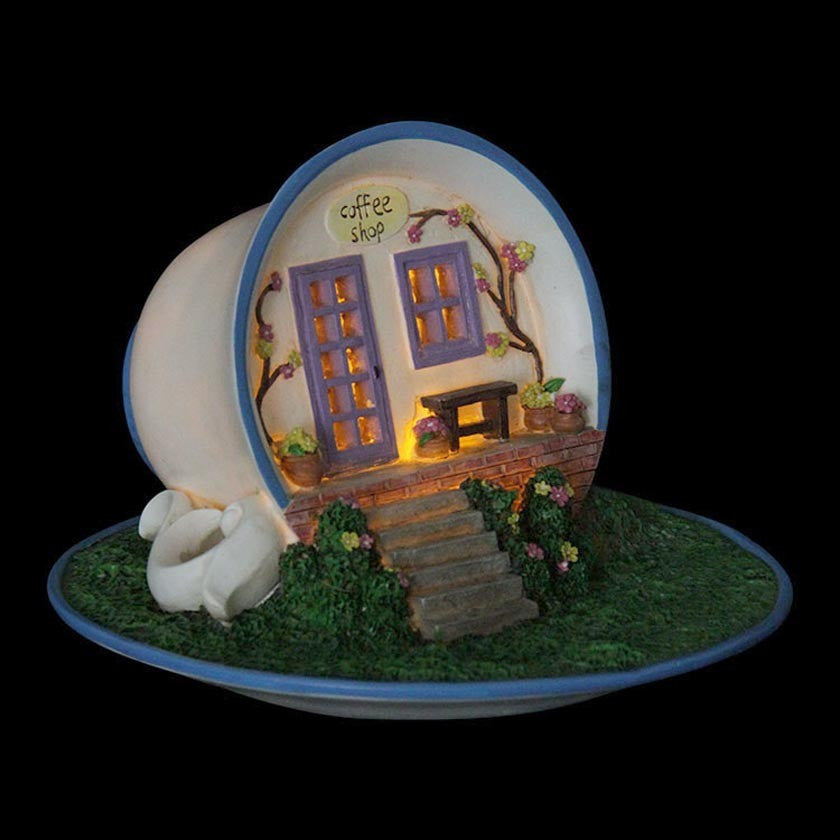 Coffee House: Fairy Garden Miniature House - Baby Feathers Gift Shop