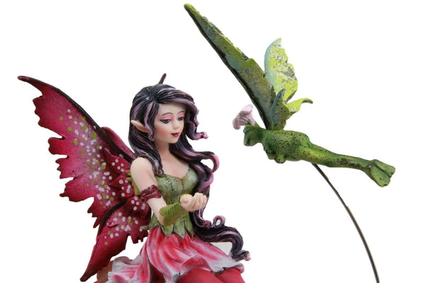 Amy Brown True Gentleman Fairy with Frog Fairy Figurine - Baby Feathers Gift Shop