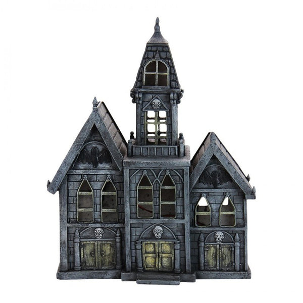 Halloween LED Haunted Mansion Cottage: Fairy Garden Holiday Theme - Baby Feathers Gift Shop