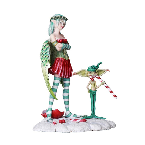 Amy Brown The Naughty List Christmas Fairy Figurine - Baby Feathers Gift Shop