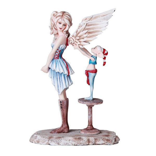 Amy Brown Angel gets her Wings Christmas Fairy Figurine - Baby Feathers Gift Shop