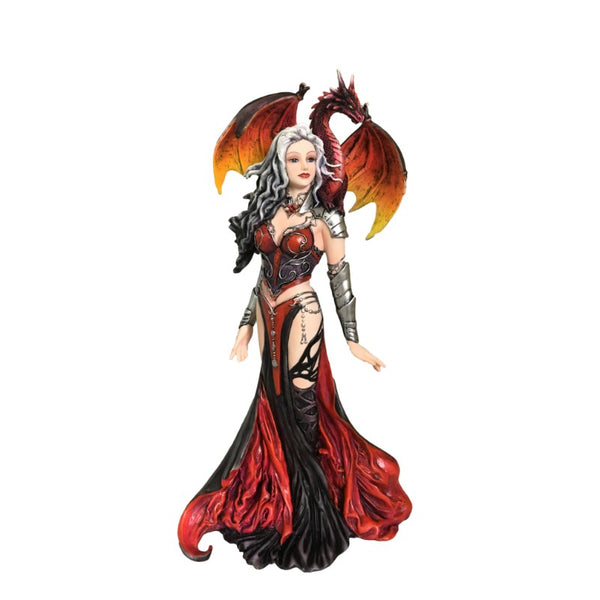 Severille Red Dragon Witch: Witches & Dragons collection by Nene Thomas - Baby Feathers Gift Shop