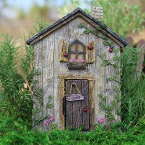 Ladybug Fairy Door w/hinged Door: Fairy Garden Landscaping Miniature Door - Baby Feathers Gift Shop