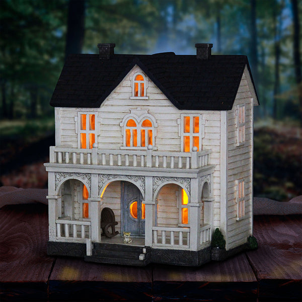Barnyard Farm House Miniature Solar House: Fairy Garden Cottage Country Farm Theme