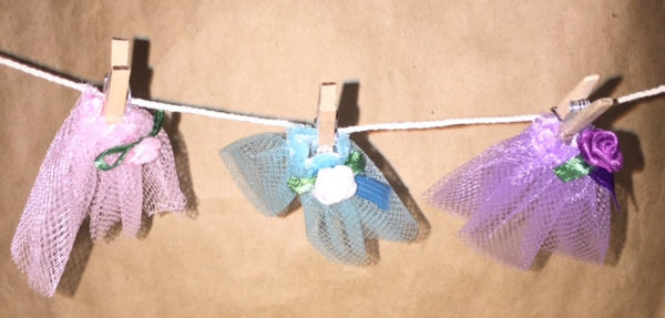 Clothes Line Fairy Garden Backyard Miniature Accessories - Baby Feathers Gift Shop