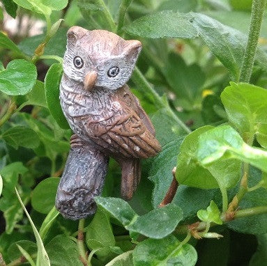 Hoot the Owl: Fairy Garden Animal Miniature - Baby Feathers Gift Shop