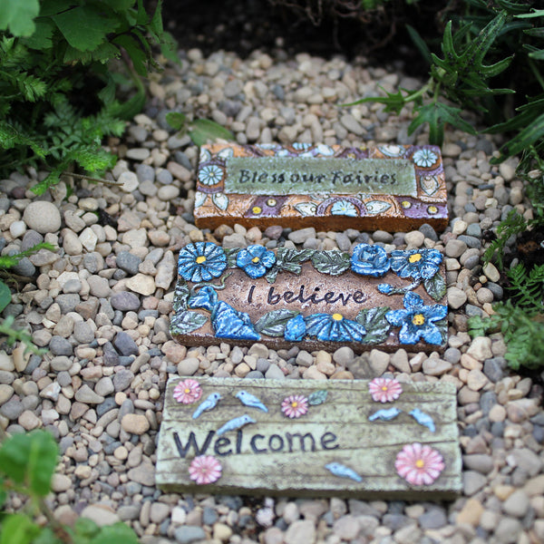 Fairy Door Mats: Garden Miniature Accessories - Baby Feathers Gift Shop
