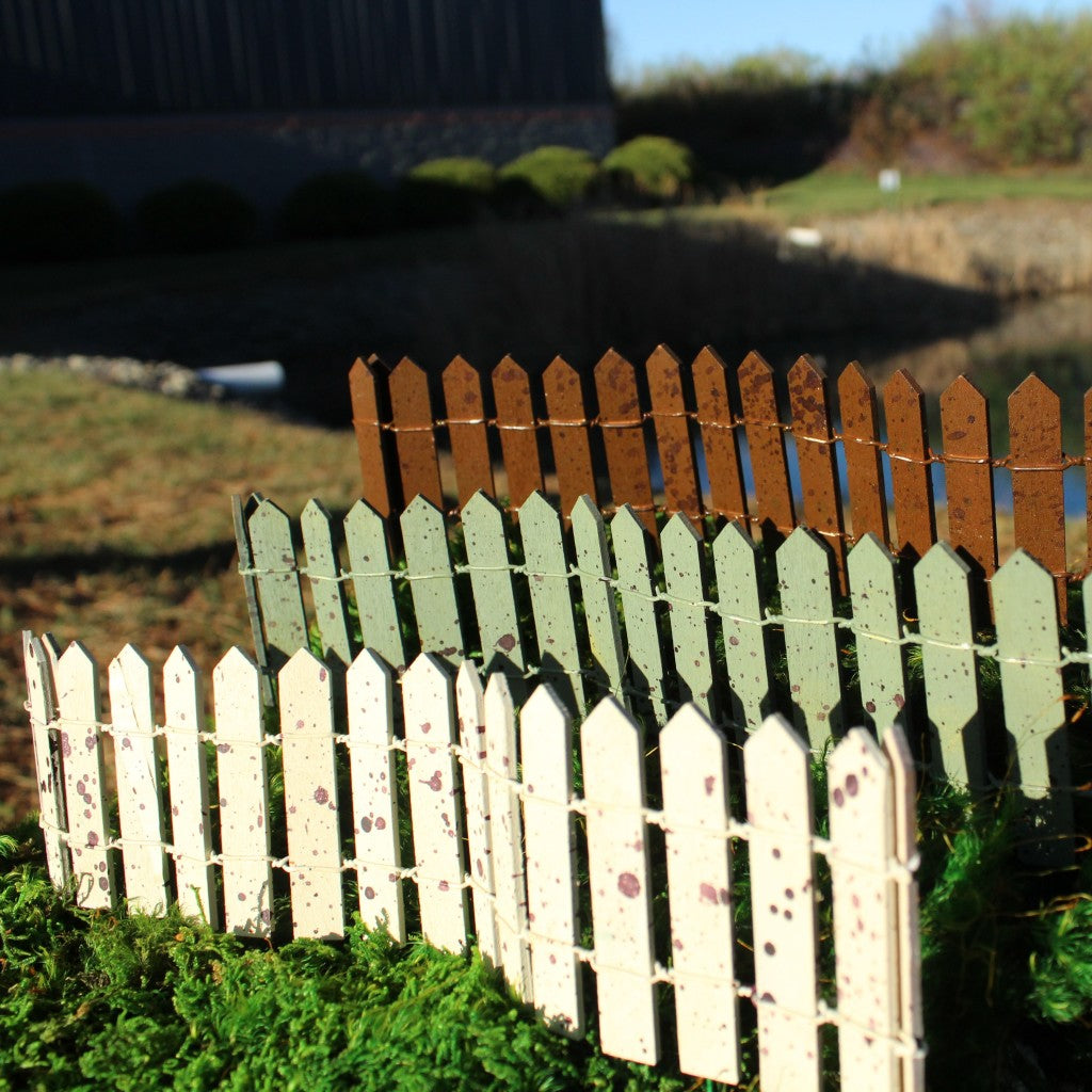 Traditional Mini Picket Fence Fairy Garden Landscaping Miniature
