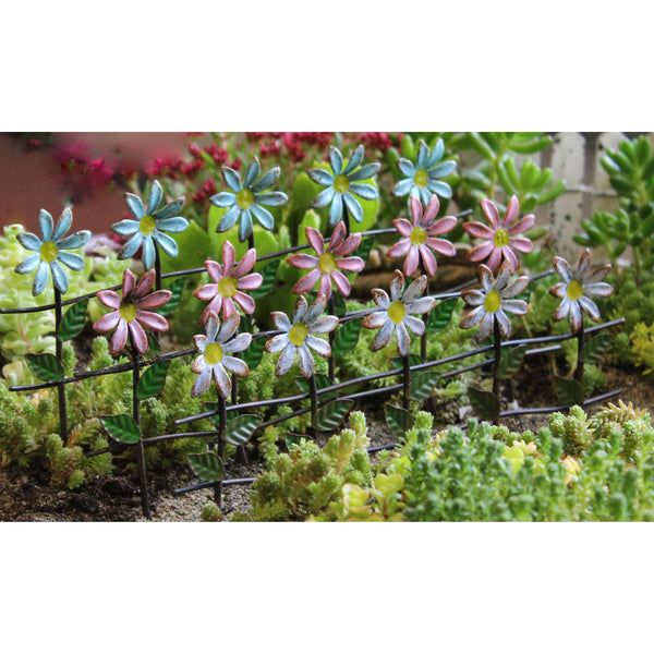 Daisy Fence Mini Fairy Garden Landscaping - Baby Feathers Gift Shop