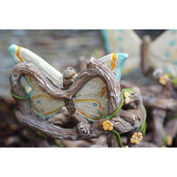 Butterfly Double Rocker: Fairy Garden Miniature Furniture - Baby Feathers Gift Shop