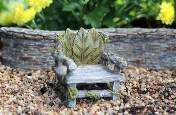 Ivy Chair Fairy Garden Miniature Furniture - Baby Feathers Gift Shop