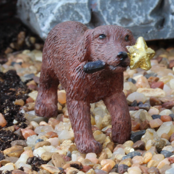 Cooper The Puppy: Fairy Garden Animal Miniature - Baby Feathers Gift Shop