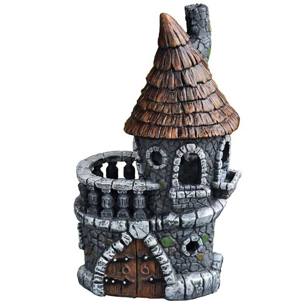 Fairy Castle: Fiddlehead Castle Fairy Cottage: Garden Miniature House - Baby Feathers Gift Shop