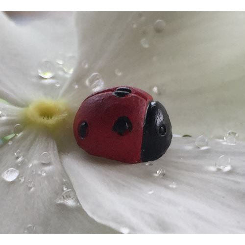 Ladybug set of 4 Fairy Garden Animal Miniature Accessories - Baby Feathers Gift Shop