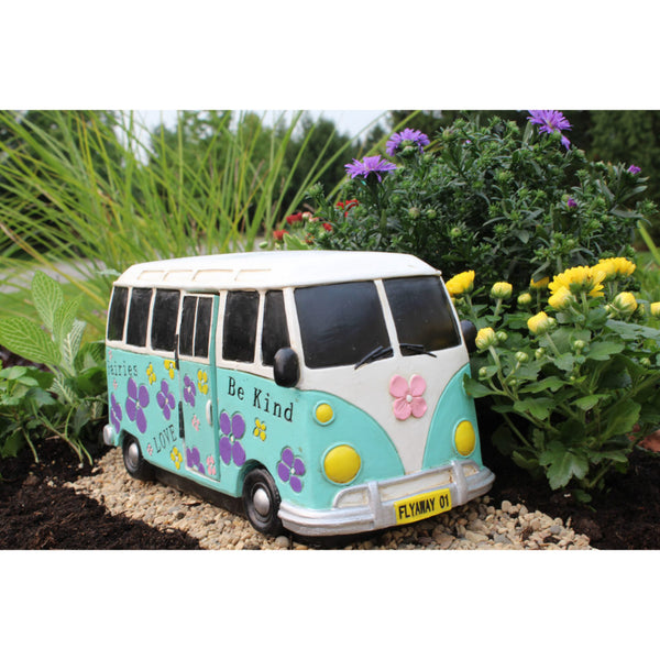 VW Van 60's Time to Drive Retro Day at the Beach Fairy Garden Cottage Backyard Miniature - Baby Feathers Gift Shop