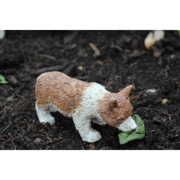 Lewis Corgi Dog Puppy: Fairy Garden Animal Miniature - Baby Feathers Gift Shop