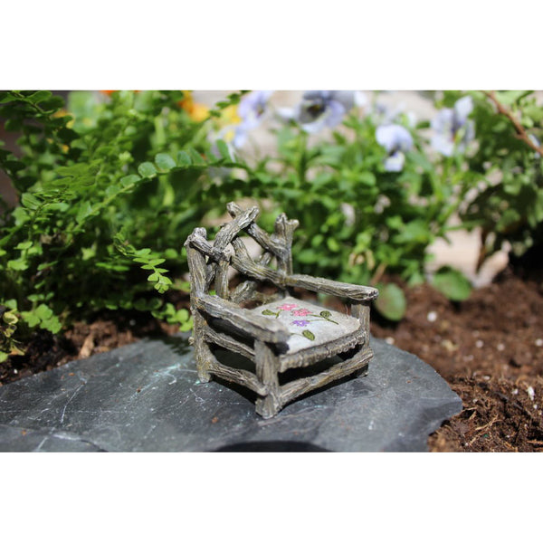 Fairy Throne Fairy Garden Chair: Fairy Miniature Furniture - Baby Feathers Gift Shop