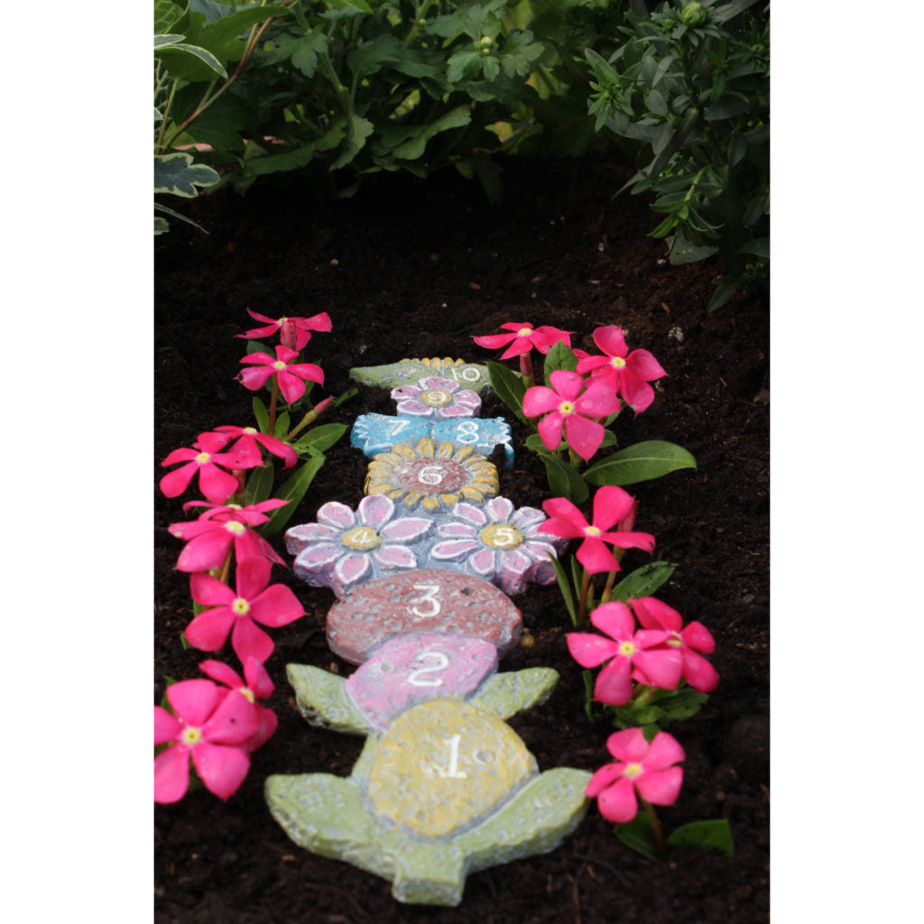 Fairy Garden Hopscotch Pathway: Fairy Miniature Backyard Garden Landscaping - Baby Feathers Gift Shop
