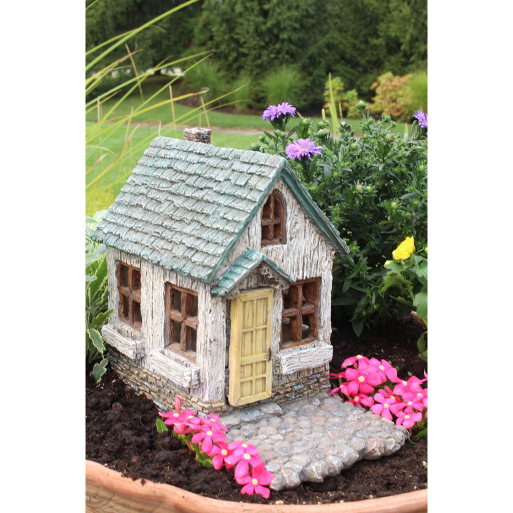 Belmont Fairy Cottage with Hinged Door: Fairy Garden Miniature House - Baby Feathers Gift Shop