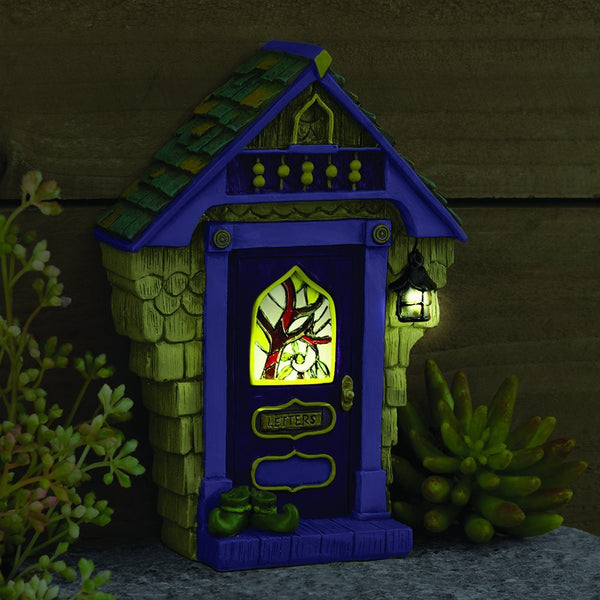 Ashbury Solar Fairy Door: Fairy Garden Landscaping Miniature Door