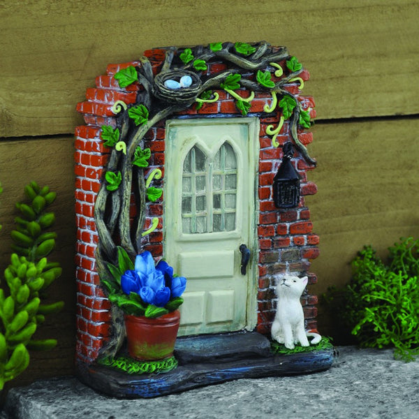 Rectory Solar Fairy Door: Fairy Garden Landscaping Miniature Door - Baby Feathers Gift Shop