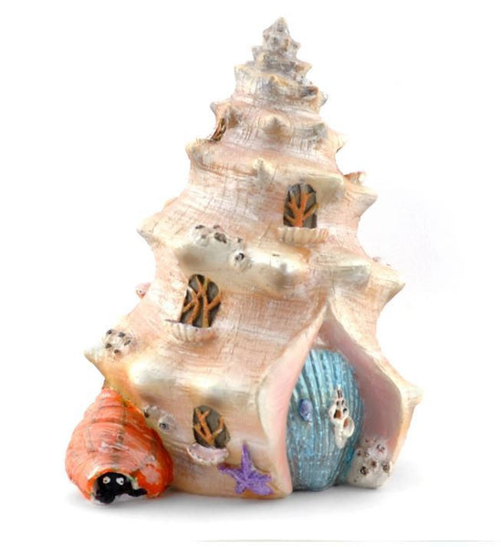 Shell Shanty Mermaid Beach Miniature Fairy House: Fairy Garden Miniature House - Baby Feathers Gift Shop