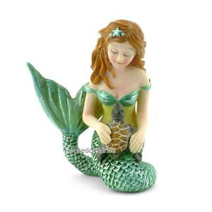Mermaid & Sea Turtle Fairy Backyard Beach Miniature Garden - Baby Feathers Gift Shop
