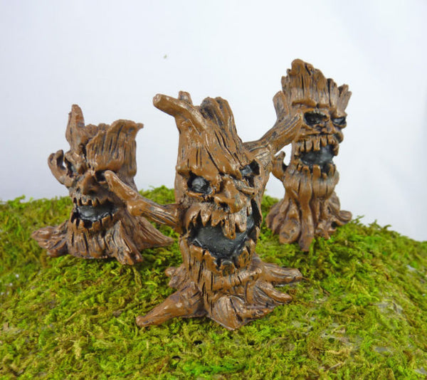Evil Tree Mini Fairy Fall Halloween Decorations: Fairy Garden Holiday Theme Miniature Accessories - Baby Feathers Gift Shop