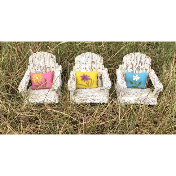 Front Porch Chair with Pillow Fairy Garden Miniature Furniture - Baby Feathers Gift Shop